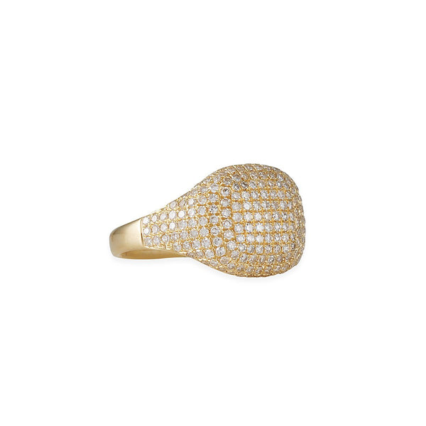 CP Collection - Fabulous Pave Pinky Ring in Yellow Gold