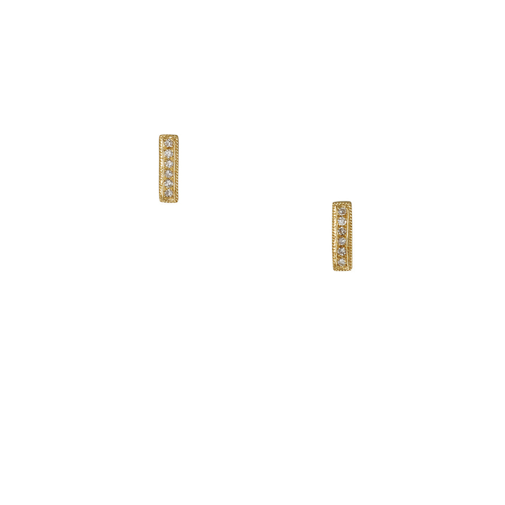 Cp Collection - Diamond Stick Earrings