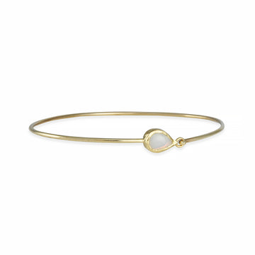Misa - Compass Bangle Bracelet With Opal
