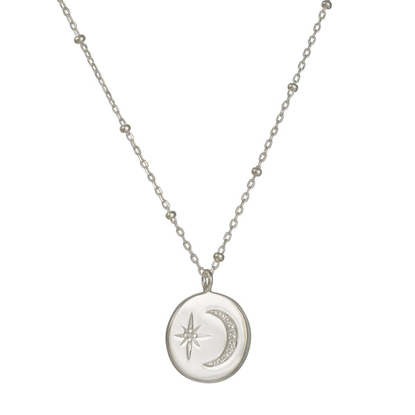 Tashi - Moon and Stars Necklace