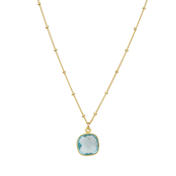 Philippa Roberts - Cushion Cut Hydro Quartz Pendant