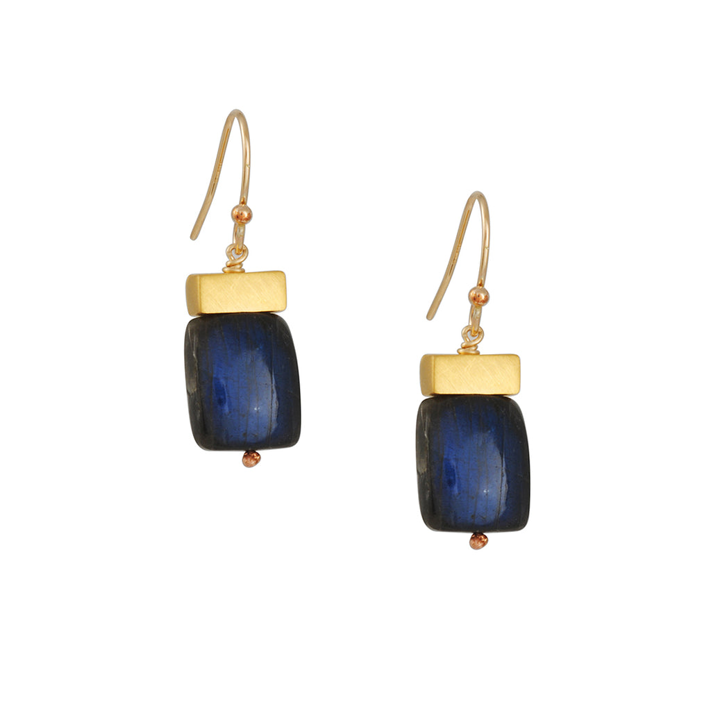 Philippa Roberts - Tab with Labradorite Earrings