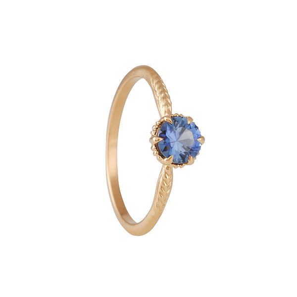 Megan Thorne - Evergreen Solitaire With Montana Blue Sapphire