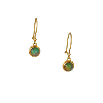 Steven Battelle - Opal Circle Drop Earrings