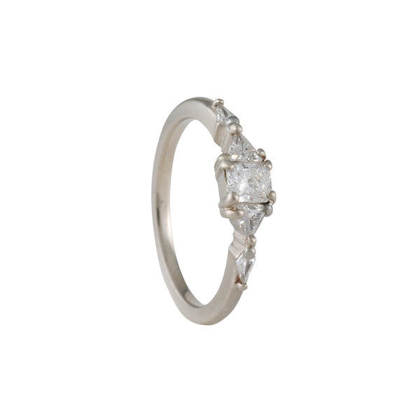 Rebecca Overmann - Mixed Brilliant Cut Diamond Engagement Ring