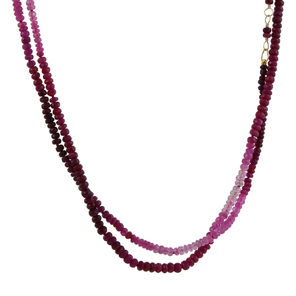 Hill House - Gradient Ruby Wrap Bracelet