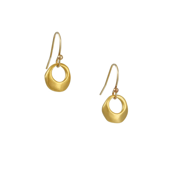 Philippa Roberts - Organic Ring Earrings in Vermeil