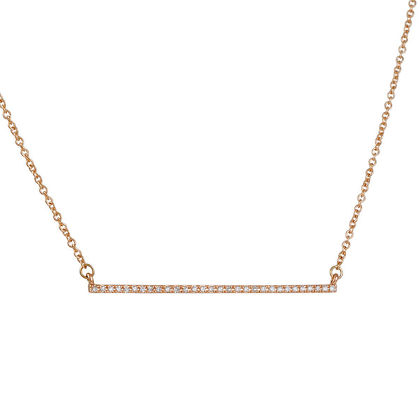 CP Collection - Mini Pave Bar Necklace