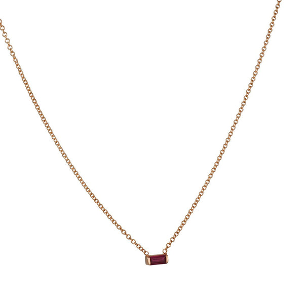 Zoe Chicco - Ruby Baguette Necklace