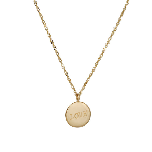 "Ariel Gordon - ""Love"" Signet Necklace"