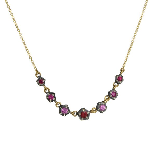 Annie Fensterstock - Free Solo Rock Necklace With Pink Sapphires