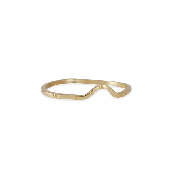Young in the Mountains - Thin Arc Ring