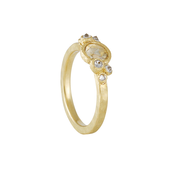 TAP by Todd Pownell - Cluster Ring with Yellow Rose Cut Diamond