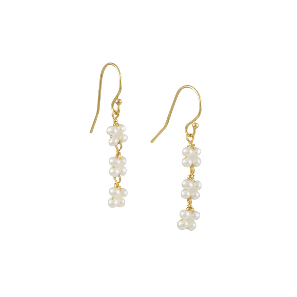 Christina Stankard - Pearl Blossom Drop Earrings
