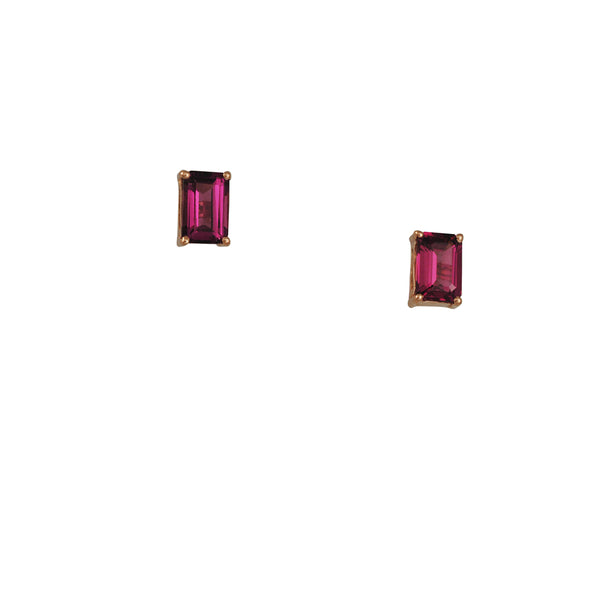 Suzanne Kalan - Rhodolite Garnet Stud Earrings
