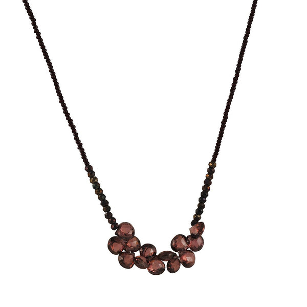 Debbie Fisher - Red Zircon Cluster Necklace