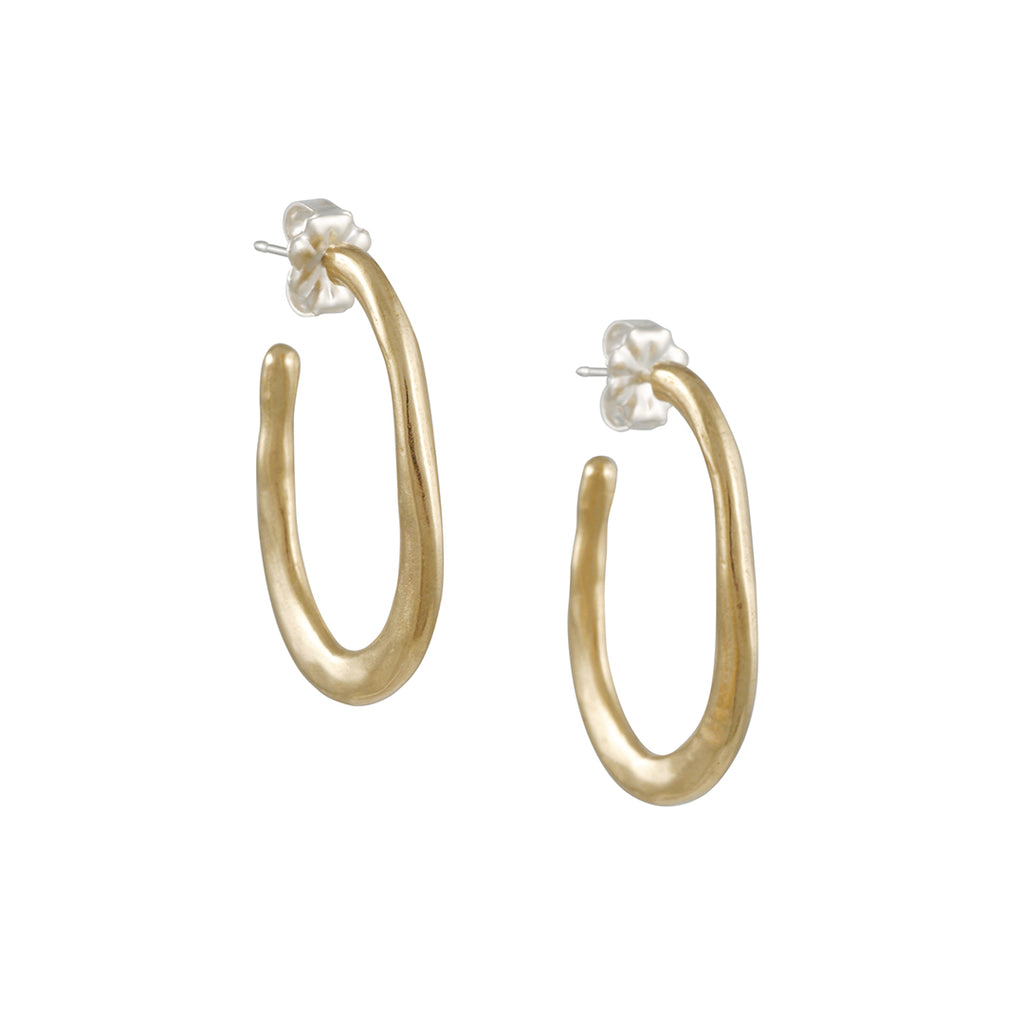 Amanda Hunt - Bronze Lake Hoop Earrings