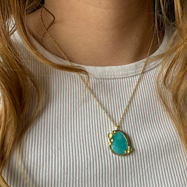 Sarah Richardson - Amazonite Pod Pendant Necklace