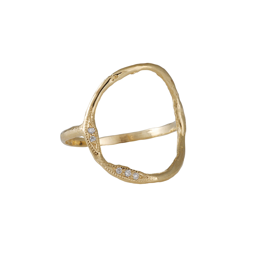 Misa Jewelry - Open Circle Ring