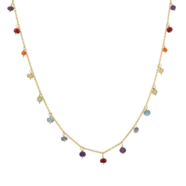 Christina Stankard - Rainbow Gemstone Fringe Necklace