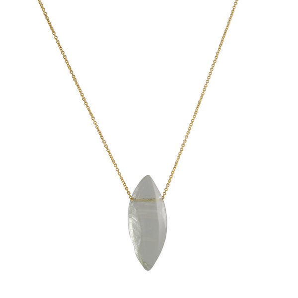 Margaret Solow - Marquise Cut Prasiolite Chain Necklace