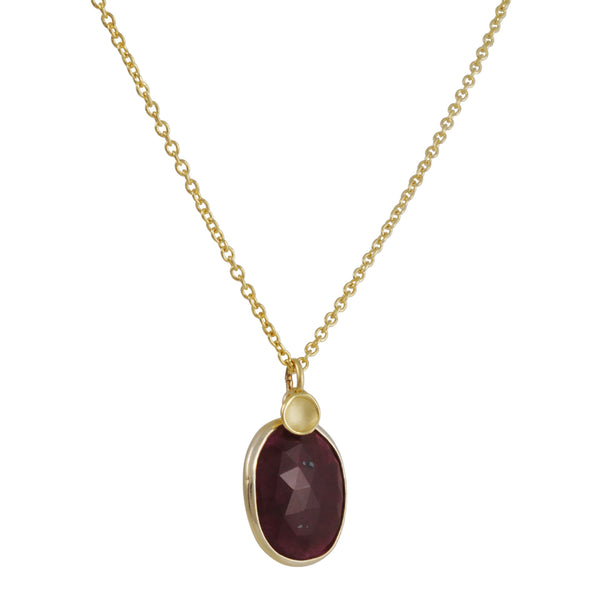 Sarah Richardson - Ruby Pendant with Pod Accent