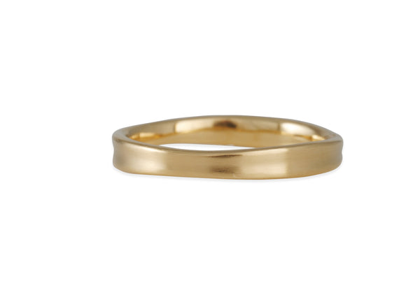 Matsu - Mini Curve Band in 14K Yellow Gold
