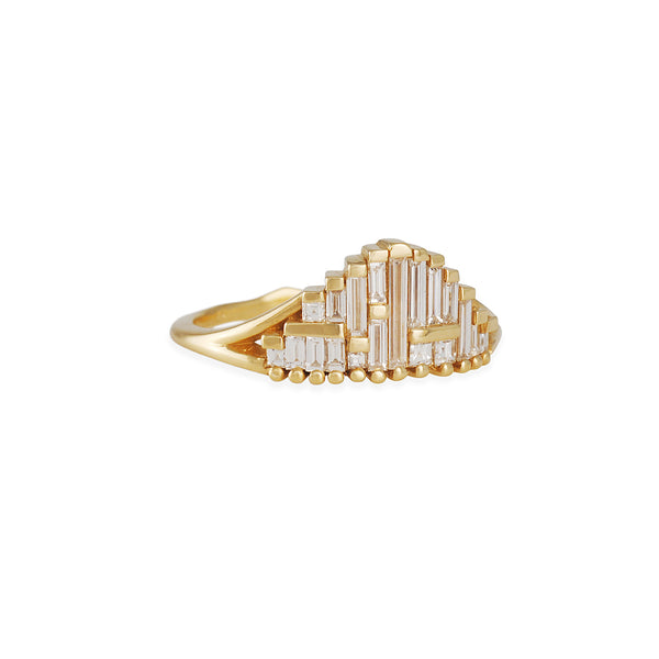 Artemer - Art Deco Baguette Diamond Cluster Ring