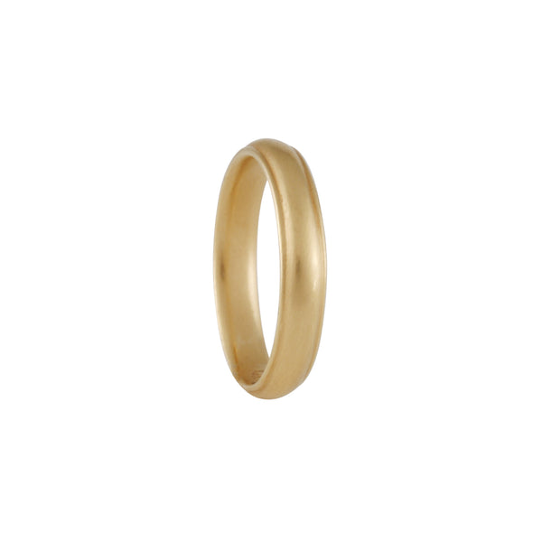 Carla Caruso - Women's Small Rail Band in 14K Yellow Gold