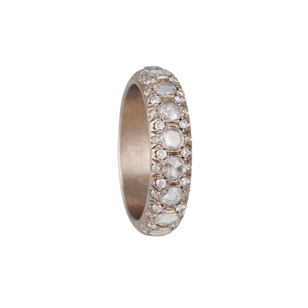 Annie Fensterstock- Laksmi Band With Rose Cut and White Diamond Pave