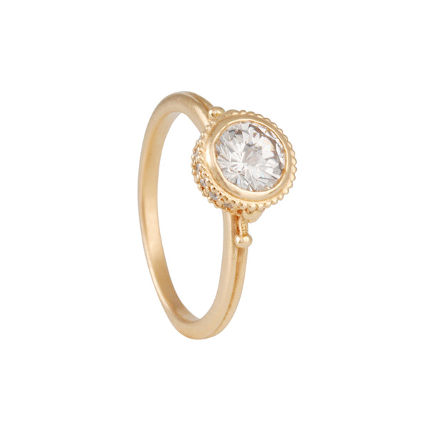 Megan Thorne - Ione High Solitaire with Rose Cut Brilliant Diamond