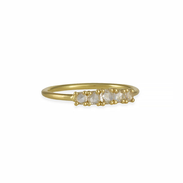Tura Sugden - Rose Cut Sugar Ring in 18K Gold