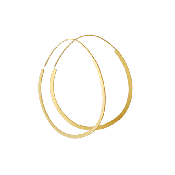 Daphne Olive - Organic Circle Hoops