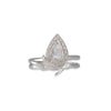 MISA Vertical Pear Diamond Halo Ring