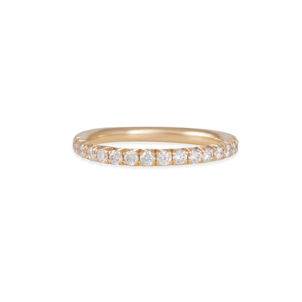 Diana Mitchell - French Set Eternity Band with 2mm Diamonds in Yellow Gold