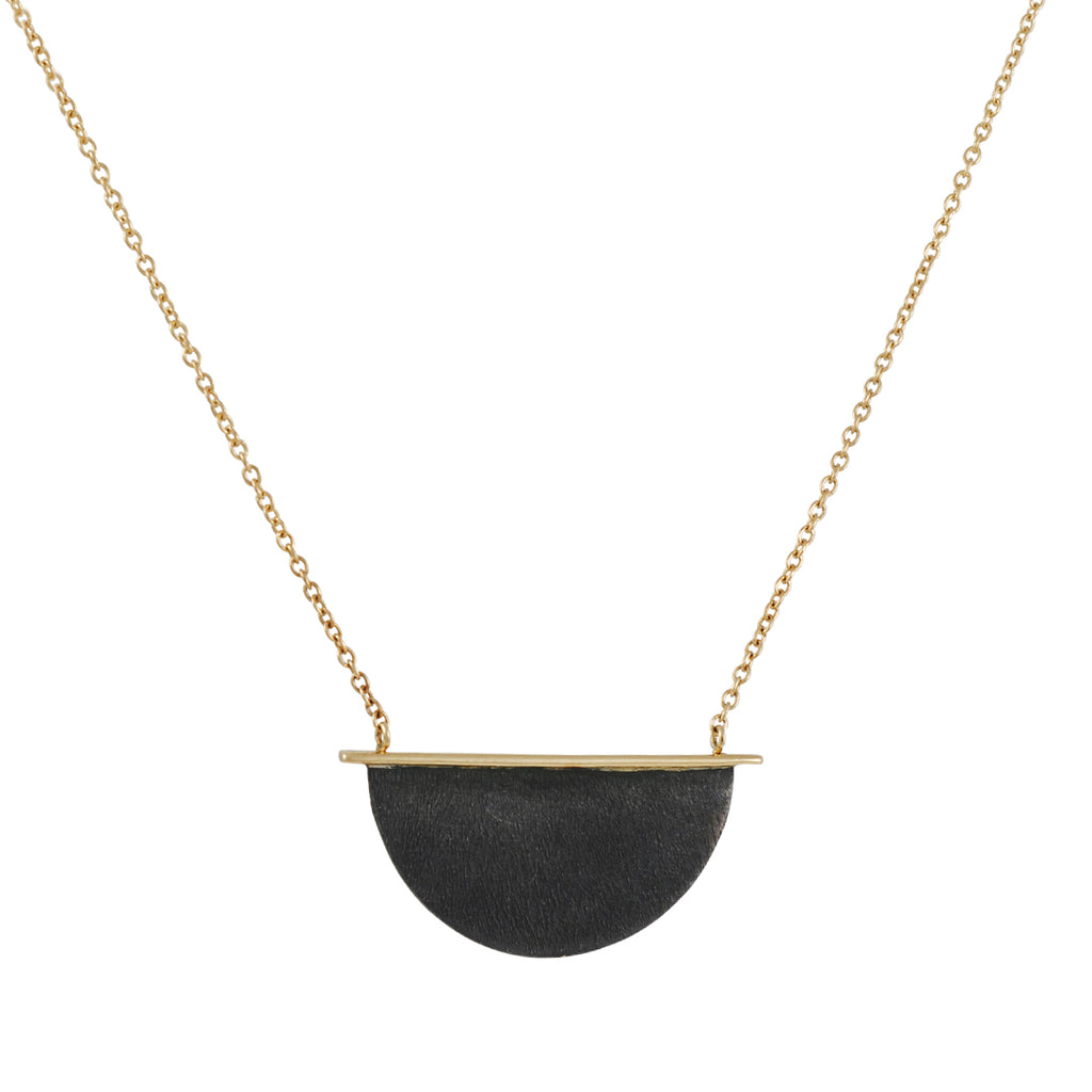 Shaesby - Half Moon Pendant Necklace