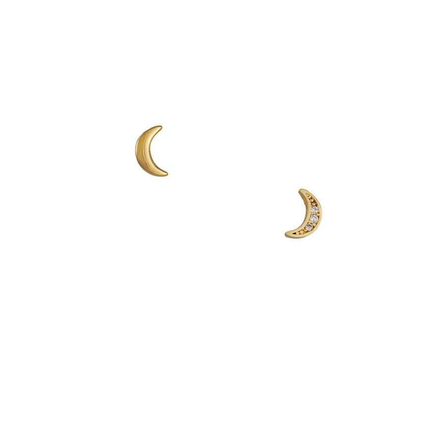 Adorn512 - Moon Studs with CZ