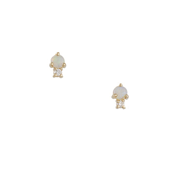 Gjenmi - Opal and Diamond Sibling Studs