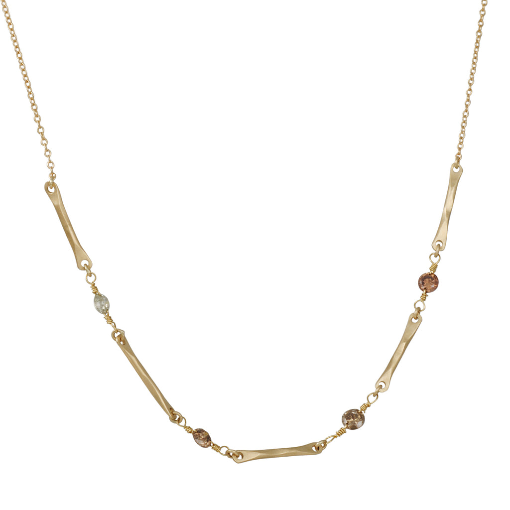 Rebecca Overmann - Flowing Water Sticks Diamond Necklace
