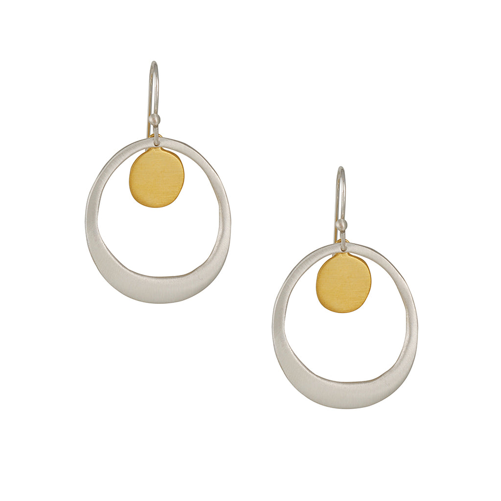 Phillipa Roberts - Pebble in Circle Earrings
