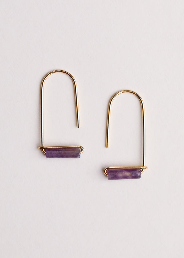 JaxKelly - Amethyst Gemstone Drop