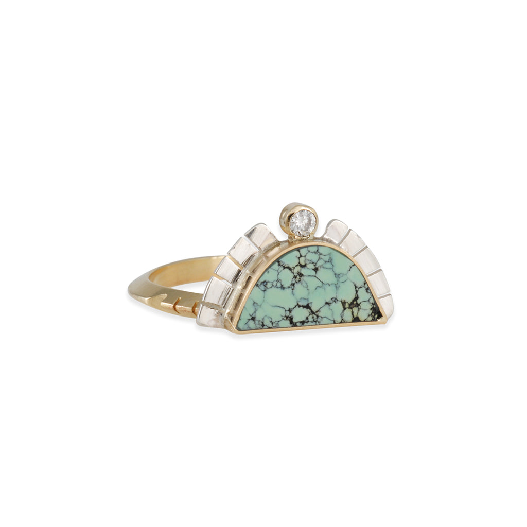 Young in the Mountains - Turquoise Rising Sol Ring