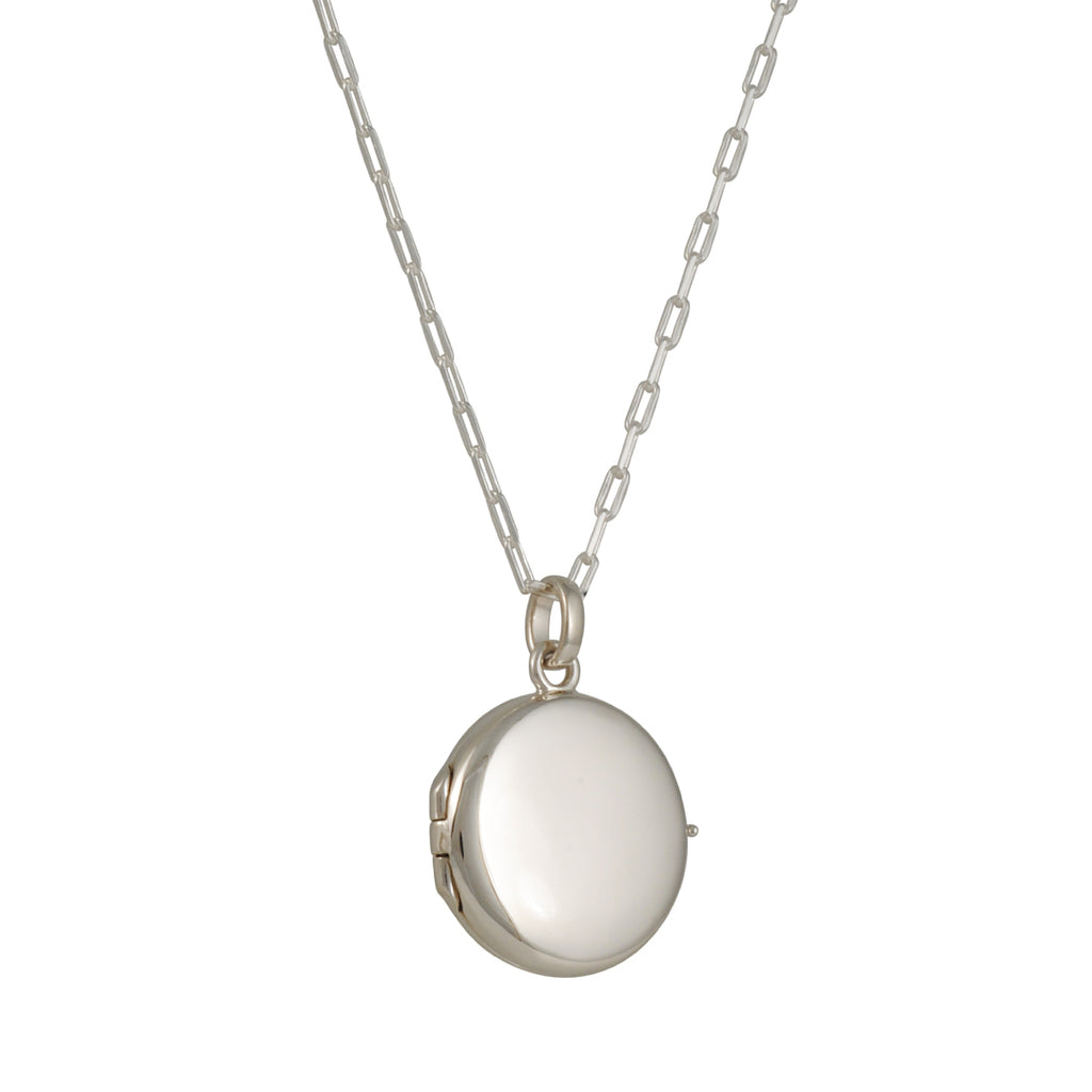 Tashi - Round Locket on Watch Chain