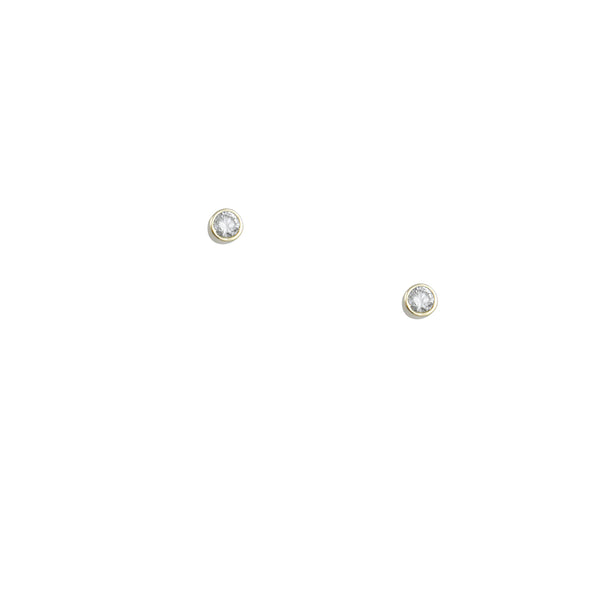 CP Collection - Small Bezel Set Diamond Studs