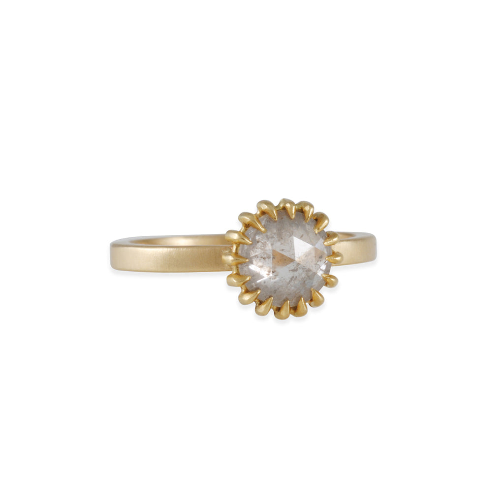 Sarah Swell - Light Grey Soleil Engagement Ring