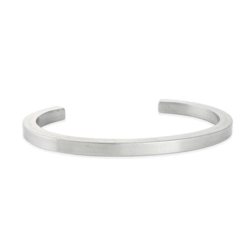 Craighill - Squared Uniform Cuff in Stainless Steel, Large
