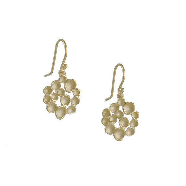 Sarah Richardson - Champagne Bubble Earrings in Gold Vermeil