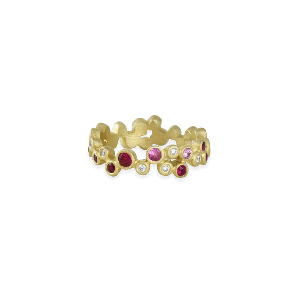 Annie Fensterstock - Contella Band with Rubies, Pink Sapphires and Diamonds