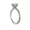 Sholdt Design - Petite Prong Solitaire with Emerald Cut Diamond in Platinum