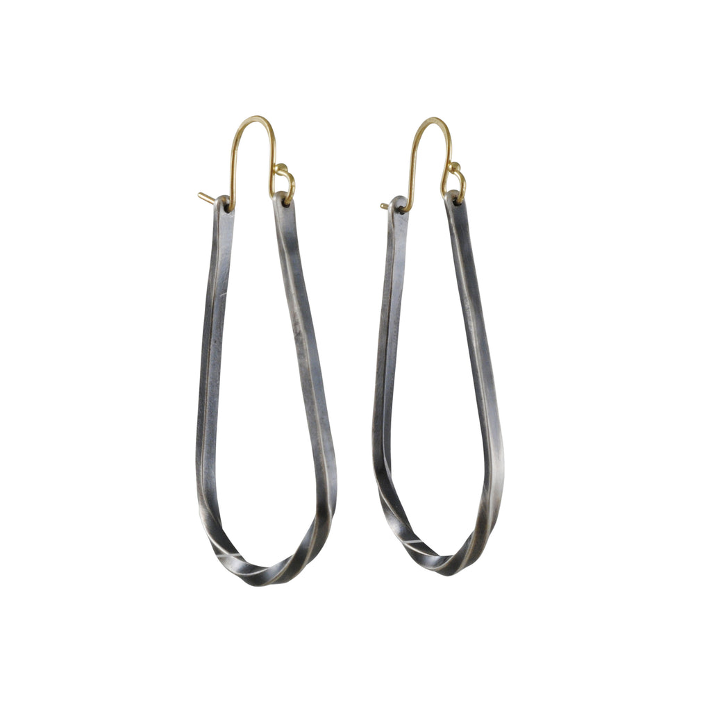Sarah McGuire - Small Mixed Metal Bias Hoop Earrings